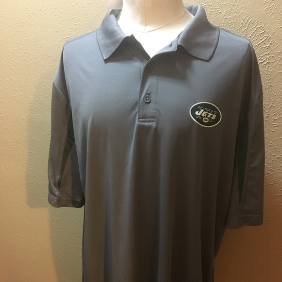 NFL New York Jets Charcoal Polo TX3 cool size 2XL 28f894868